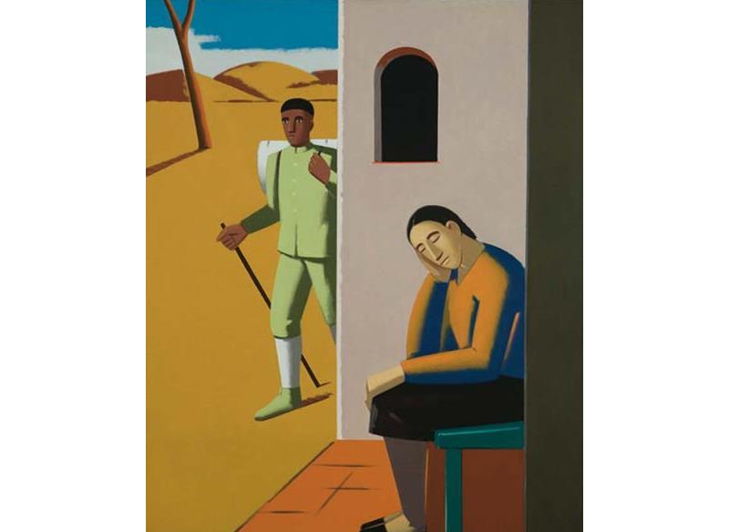 Andrés Rábago - El hijo pródigo Óleo sobre lienzo. - 140 x 116 cm