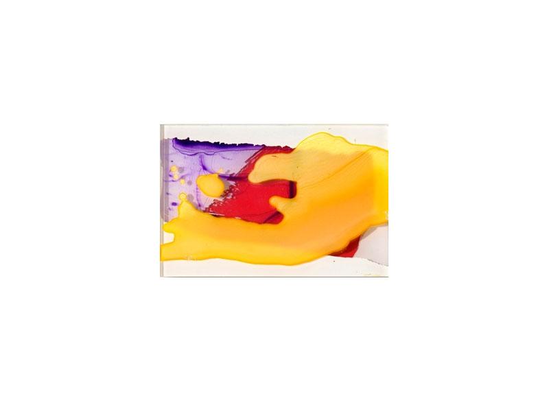 Capi Cabrera Sintética y orgánica III 2016 Pintura sintética y acrílico sobre plexiglas - 15,5 x 23 cm.