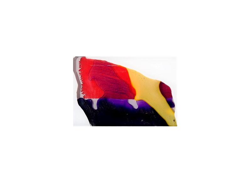 Capi Cabrera Sintética y orgánica IV 2016 Pintura sintética y acrílico sobre plexiglas - 15,5 x 23 cm.