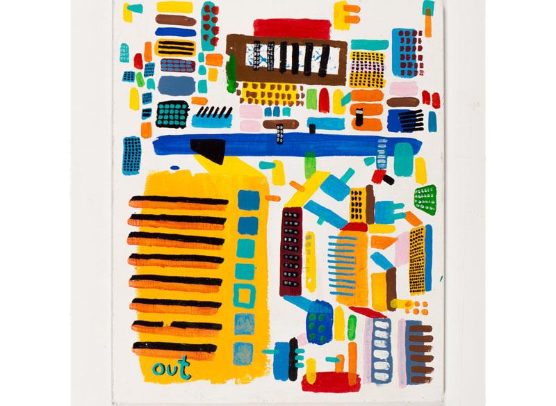 CAYETANA H. CUYÁS  - OUT - 2016 Acrílico sobre lienzo, 70 x 50 cm