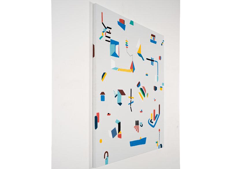 CAYETANA H. CUYÁS  - PLAY ( perfil ) - 2018 Acrílico sobre lienzo, 150x150 cm