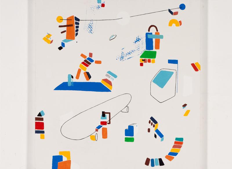 CAYETANA H. CUYÁS  - CON POSICIÓN - 2018 -  Acrílico sobre lienzo, 90 x 90 cm