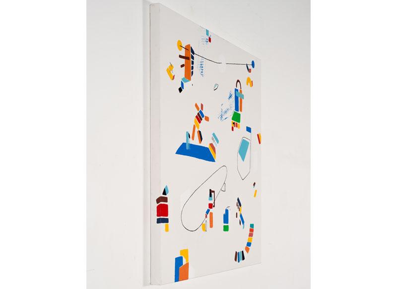 CAYETANA H. CUYÁS  - CON POSICIÓN ( perfil ) - 2018 -  Acrílico sobre lienzo, 90 x 90 cm