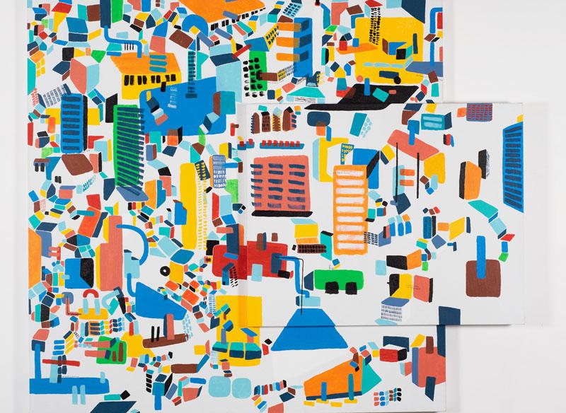 CAYETANA H. CUYÁS  - VOLVER A VOLVER - 2017 Acrílico sobre lienzo doble, 180 x 150 cm