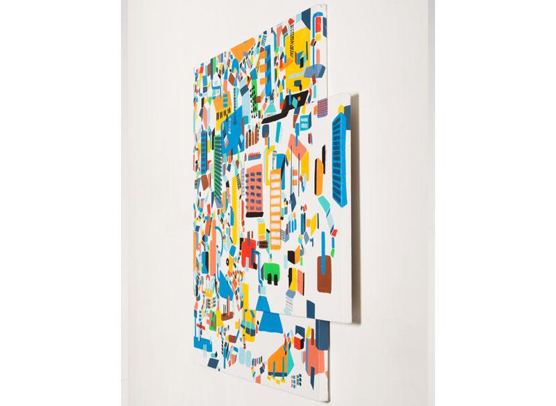 CAYETANA H. CUYÁS  - VOLVER A VOLVER ( perfil ) - 2017 Acrílico sobre lienzo doble, 180 x 150 cm