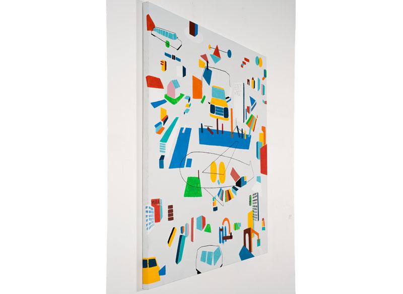 CAYETANA H. CUYÁS  - DE VIAJE ( perfil )- 2018 Acrílico sobre lienzo, 150x150 cm