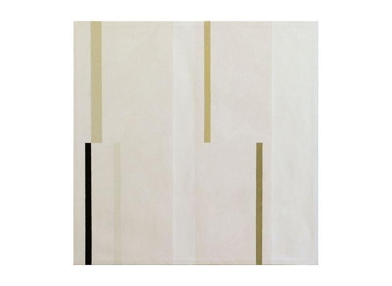 César Paternosto Ritmos verticales- en grises, II 2006 Óleo, gesso, polvo de mármol sobre lienzo