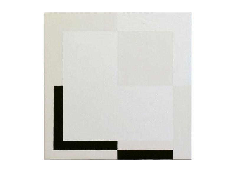 César Paternosto Marginalidad & desplazamientos- L insistente 2006 Óleo, polvo de mármol, gesso sobre lienzo