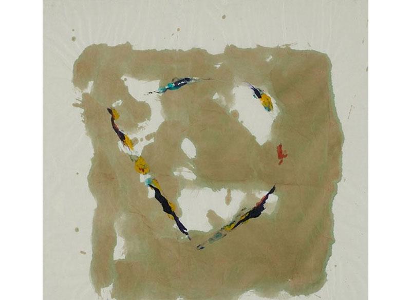 Curt Asker Sin título 1999 Técnica mixta sobre papel - 80x80 cm.