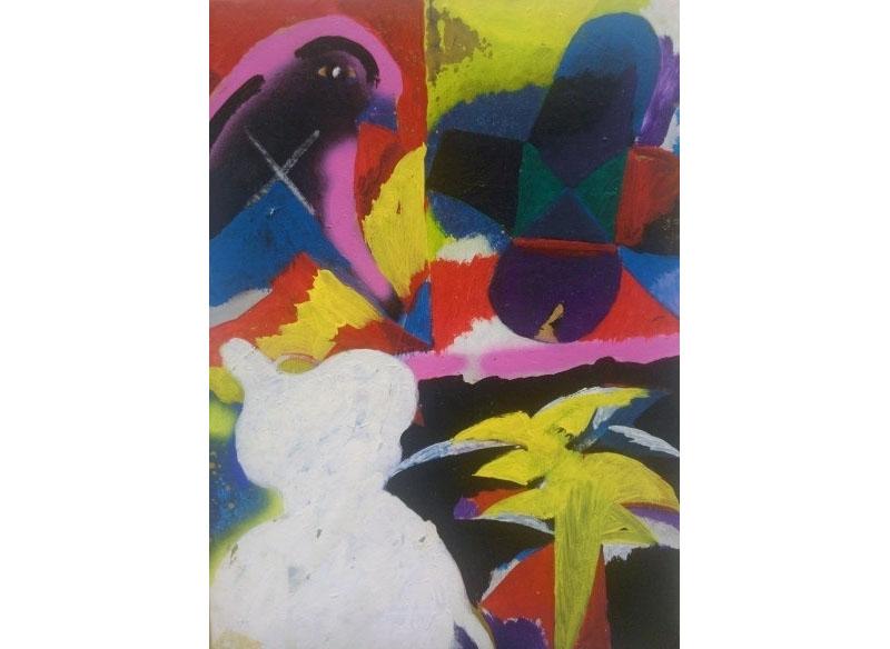 Dieter Korbanka Sin título 1997-1999 Óleo y acrílico sobre lienzo.- 87 x 64 cm