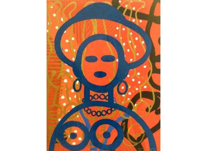 Dieter Korbanka Sin título 1997-1999 Óleo y acrílico sobre lienzo. - 87 x 64 cm