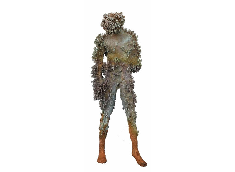 Jason deCaires Taylor Coral accretion VI 2017 Cooper crystals, crystal resin.- 35 x 15 x 12 cm.