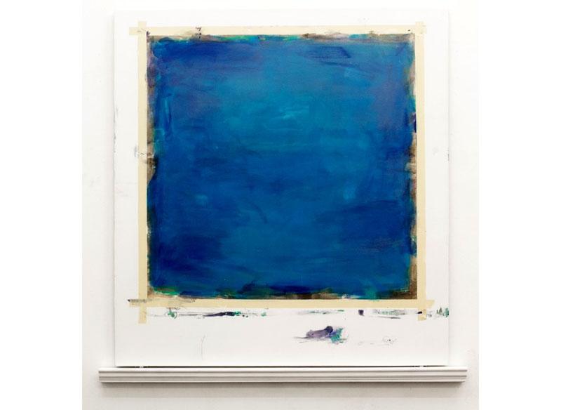 Jesús Matheus Los Balcones I 2017 Acrílico, óleo/lienzo, madera laqueada.- 142x137,8x8 cm.