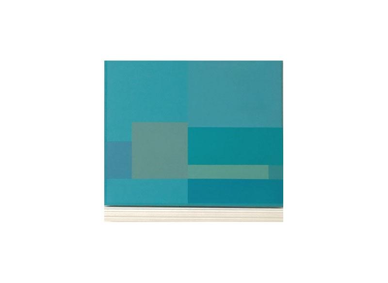 Jesús Matheus Constructivo Azul (Los Balcones II) 2017 Acrílico/lienzo, madera laqueada. - 61x68,5x7 cm.