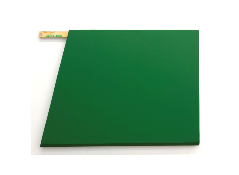 Jesús Matheus Construcción verde con listón 2017 Óleo/lienzo, madera intervenida. - 92x127x5 cm