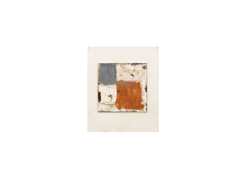 Jesús Matheus Cartografía II 2016 Óleo/papel impreso encolado a papel. - 35x30 cm.