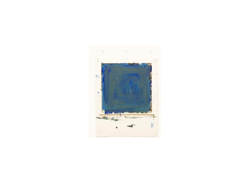 Jesús Matheus Estudio para pintura 2017 Óleo/papel impreso, madera. - 27x21,7 cm.