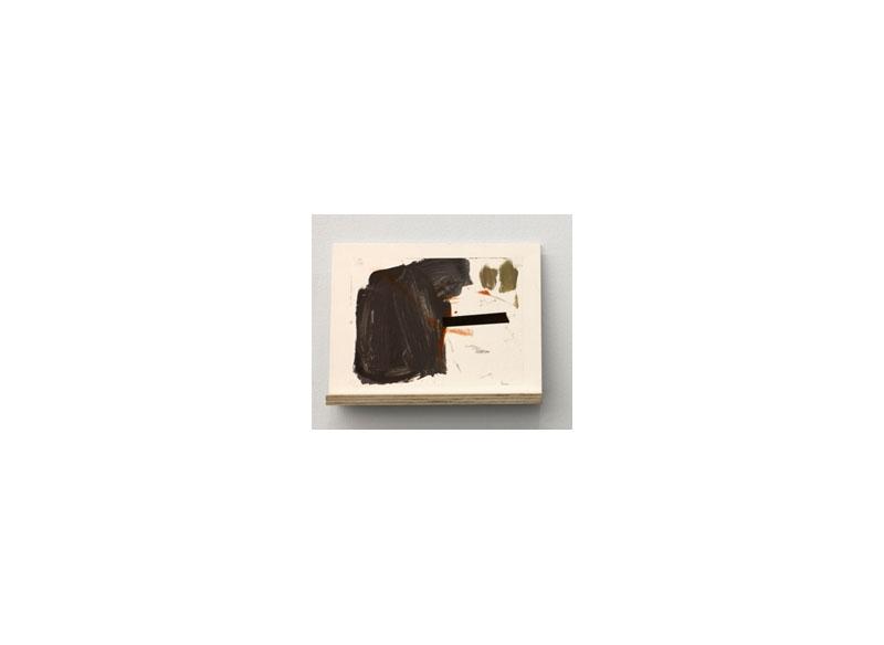 Jesús Matheus Signo/Flotante I (serie) 2016 Óleo/papel encerado encolado a papel, madera y metacrilato. - 30x37,2x7,5 cm.