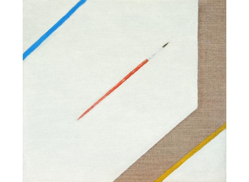 José Ángel Sintes Diagonals 2017 Óleo sobre tela.