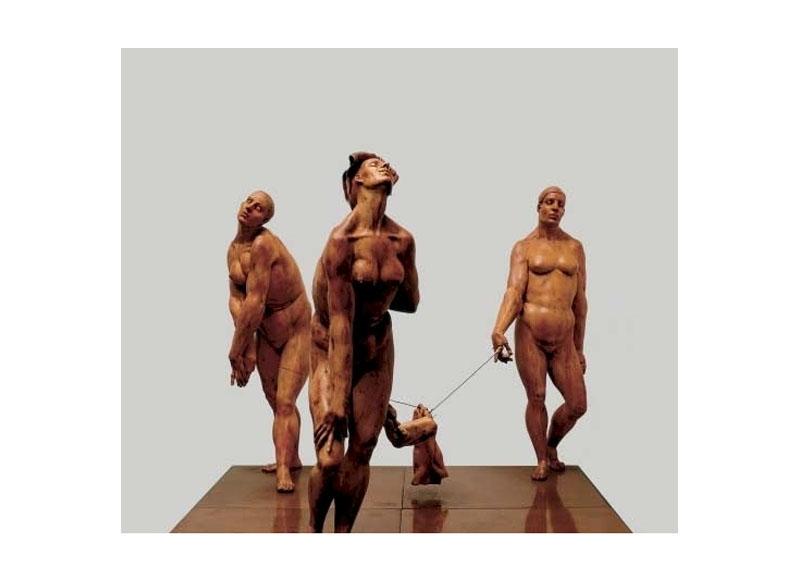 Juan Bordes Misse au plombeau 1998  Madera de boj y base de cobre 50 x 60,5 x 60,5 cm