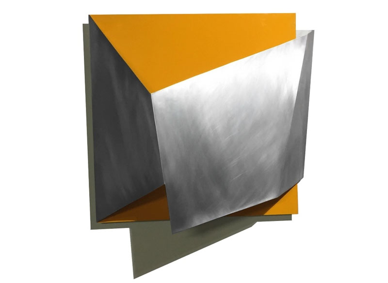 Juan E. Correa EN-VOLVER 2016 Aluminio y pintura. - 75x75x20 cm.