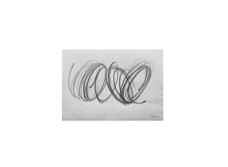 Juan E. Correa Sin título 2013 Lápiz y acrílico sobre papel.- 23 x 32,5 cm