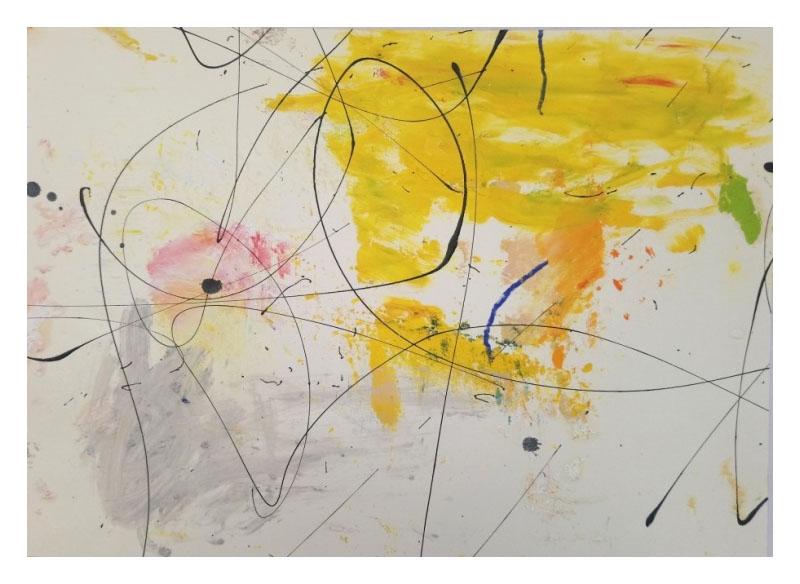 Juan Gopar - Serie (ANTROPOCENO) I, II, II y IV. 2017/2018.  Técnica: acrílico sobre papel. 45x60 cm.