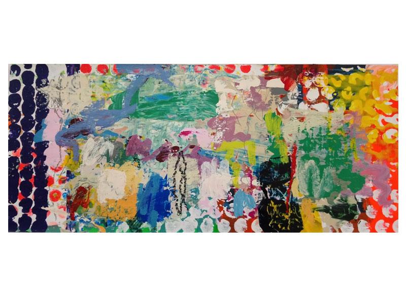 Juan Gopar - Serie (ANTROPOCENIO) - 2017. Acrílico sobre papel. 35x65 cm.