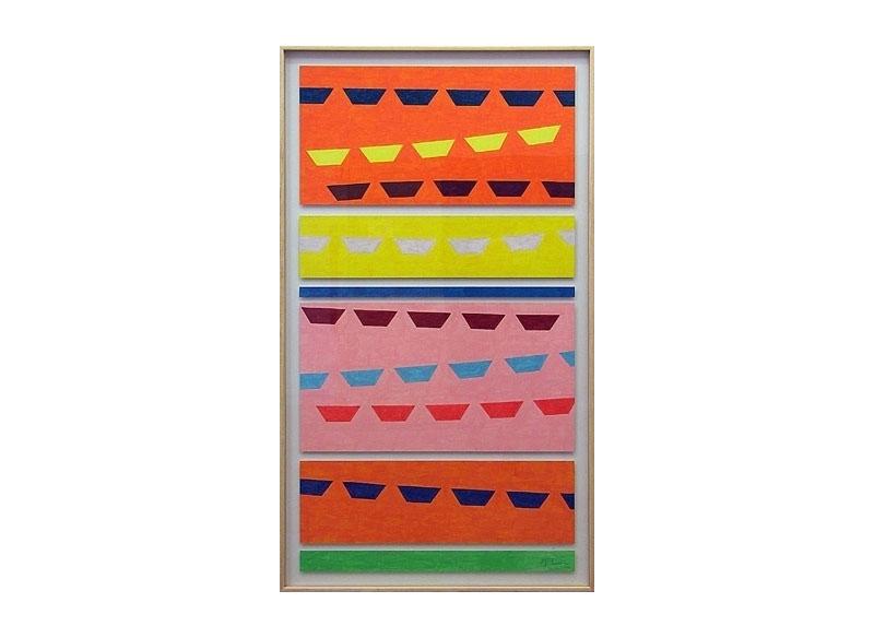 Luis Palmero Sin título 2004 Acrílico sobre papel.- 155 x 89 cm