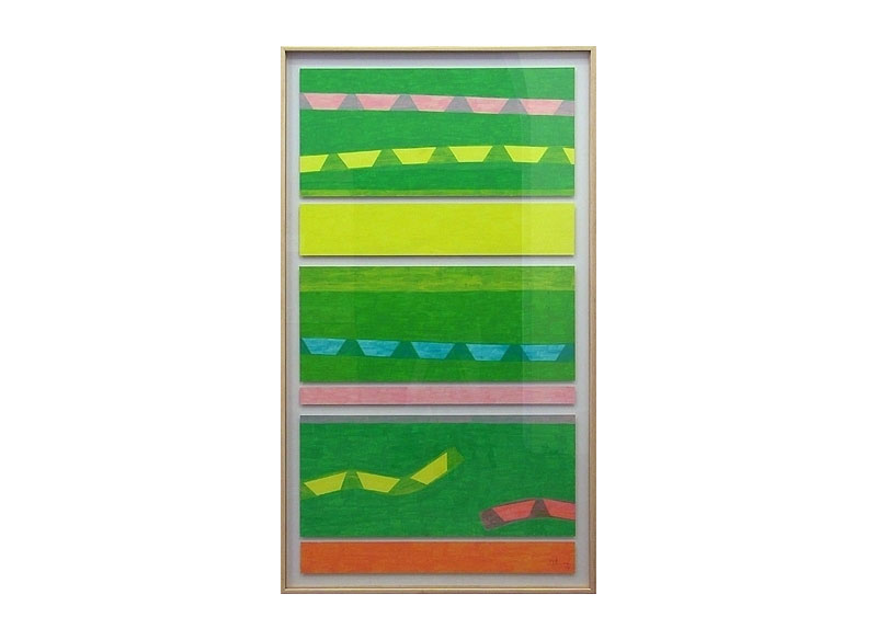 Luis Palmero Sin título 2004 Acrílico sobre papel. 155 x 89 cm