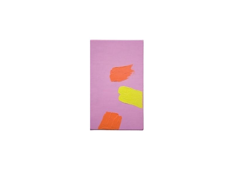 Luis Palmero Serie Dos Sabores 2006 Acrílico sobre lienzo.- 41x 24 cm