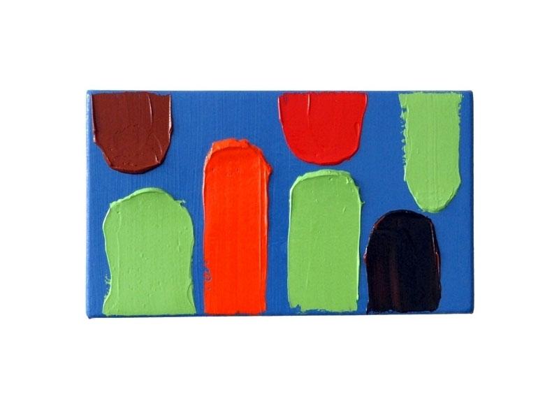 Luis Palmero Cinco colores II 2008 Acrílico sobre tela y madera