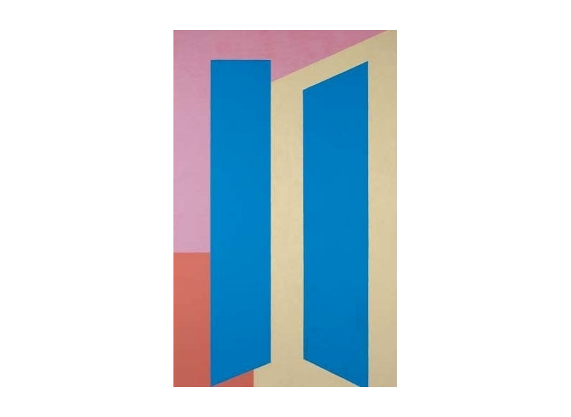 Luis Palmero Escalas 1977 Acrílico / tela y madera.- 170 x 105 cm