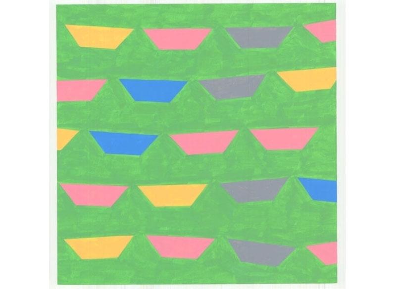 Luis Palmero Sin título Acrílico sobre papel.- 40 x 40 cm