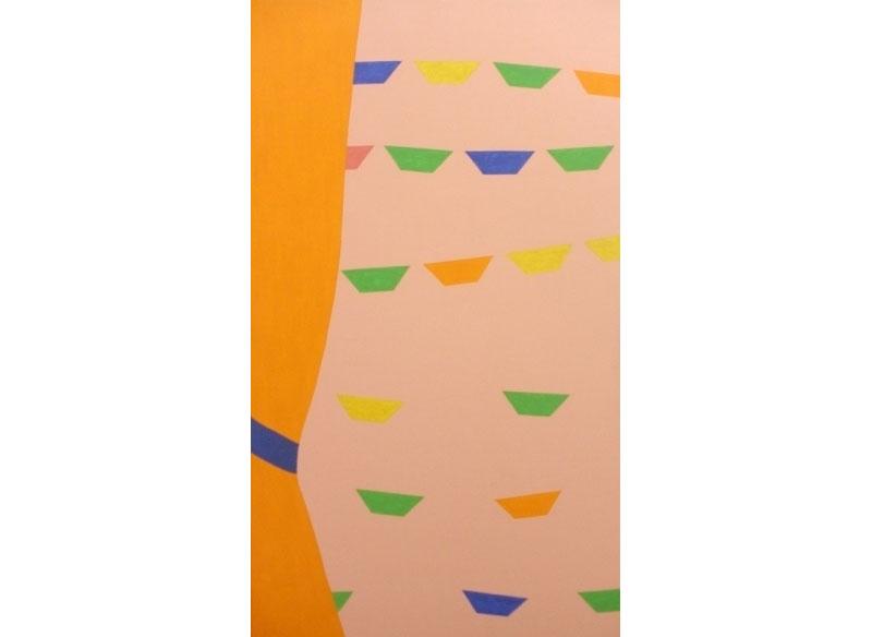 Luis Palmero Papageno Acrílico / tela / madera.- 128 x 70 cm
