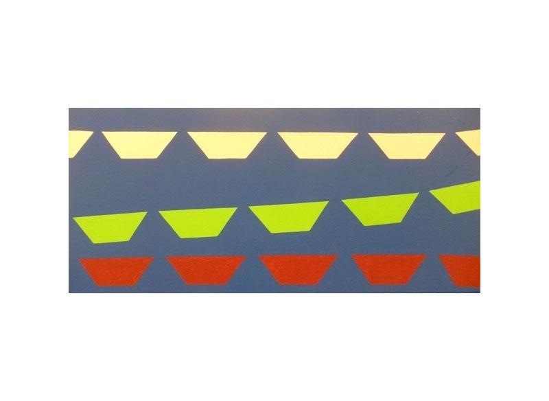 Luis Palmero Los aires de Lima Acrílico / tela / madera.- 32 x 70 cm
