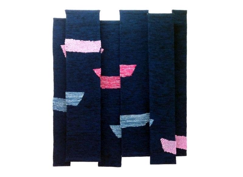Luis Palmero Sin título - Urdimbres (ref. a) 2012 Tapices en algodón, lana y trapo.- 188 x 170 cm