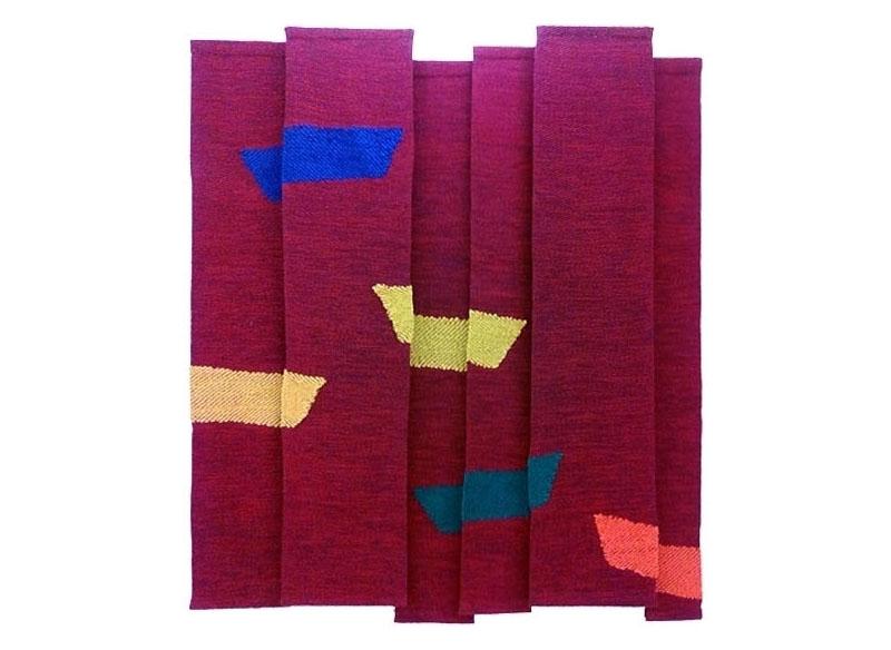 Luis Palmero Sin título - Urdimbres (ref. r) 2012 Tapices en algodón, lana y trapo.-  192 x 170 cm