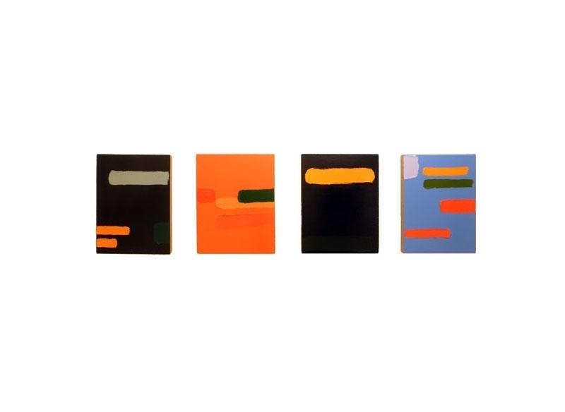 Luis Palmero Sin título Acrílico sobre tela y madera.- 76 x 240 cm