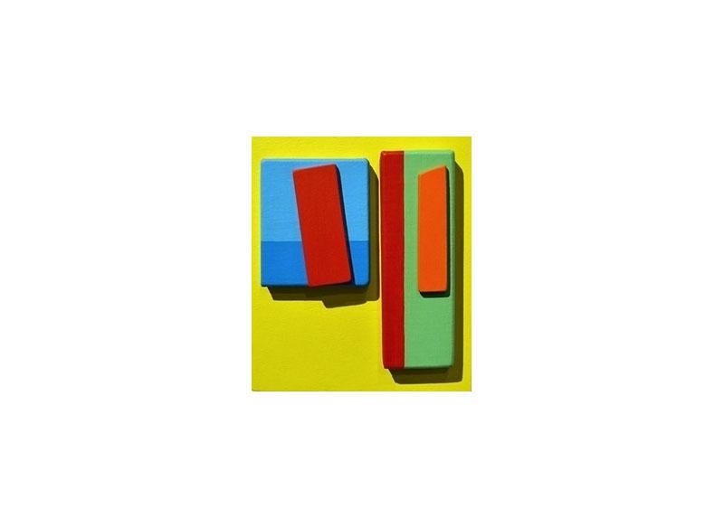 Luis Palmero Sin título (Valse a quatre temps) Acrílico sobre tela y madera.- 25,5 x 21 x 02 cm