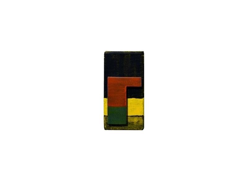Luis Palmero Sin título Acrílico sobre tela y madera.- 17 x 8,5 x 02 cm