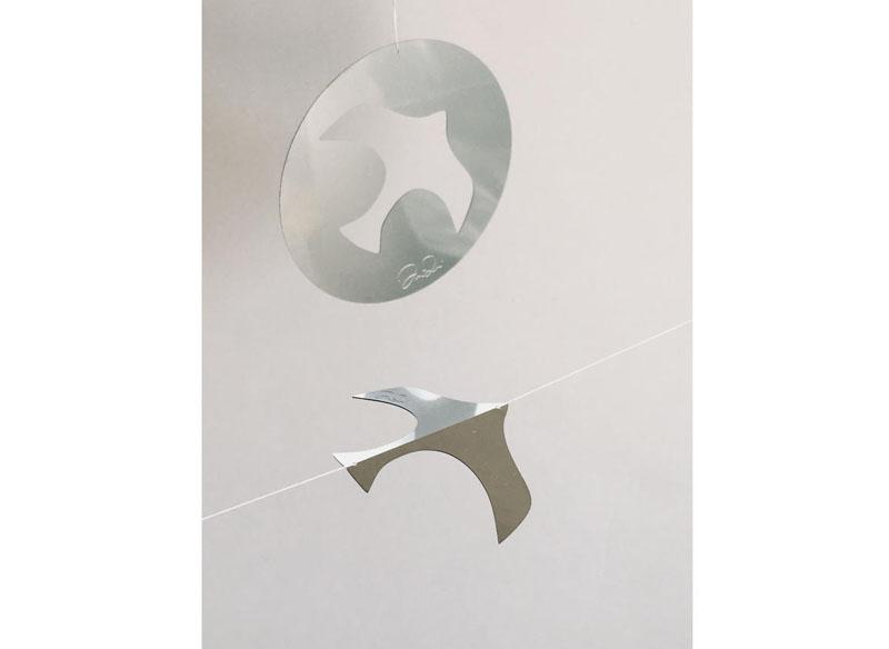 BIRDS MOBILE.  Redondo 0,6 cm. diámetro.15€