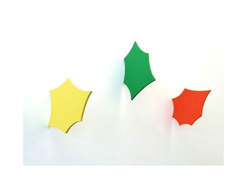 Mitsou Miura Objeto verde, Objeto rojo, Objeto amarillo 1996 Acrílico / madera