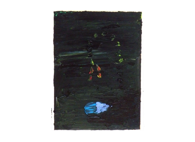 Norbert Prangenberg Peregrina 2009 Óleo sobre madera.- 41 x 30 cm.
