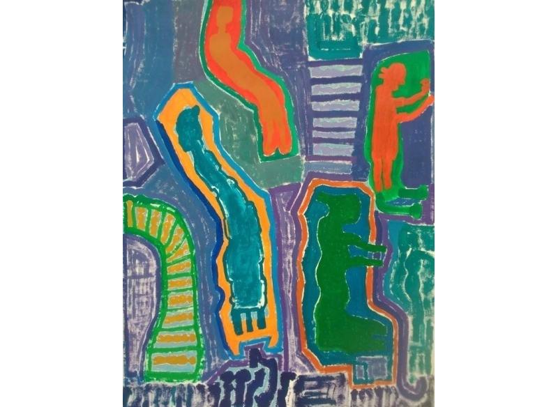 Paco Sánchez .- 120 x 89 cm..Sin título 2014 Acrílico sobre papel