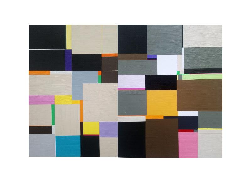 Richard Schur LOVERS SONG, STUDY (Díptico) 2008. Acrílico sobre madera. 35,5x56cm.