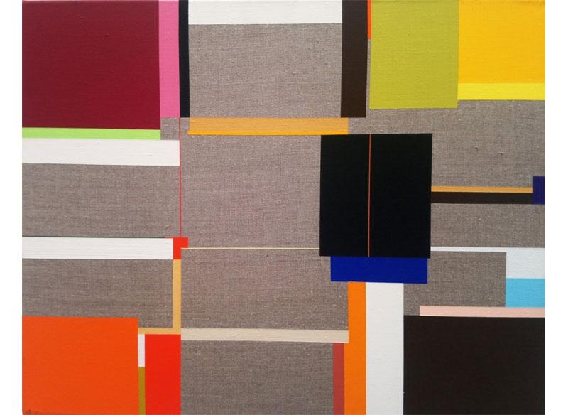 Richard Schur BATON ROUGE. 2009. Acrílico sobre lienzo. 43x54 cm.
