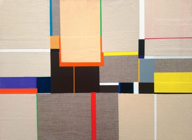 Richard Schur UNTITLE (SAHARA). 2008. Acrílico sobre lienzo.  43x54 cm.