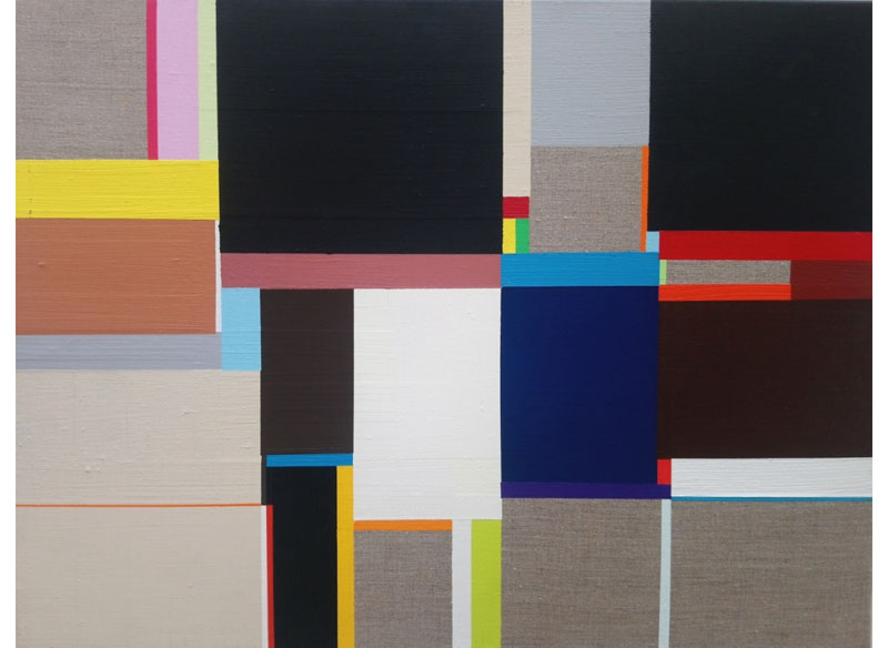 Richard Schur UNTITLE (NIGHT). 2008. Acrílico sobre lienzo.  43x54 cm.