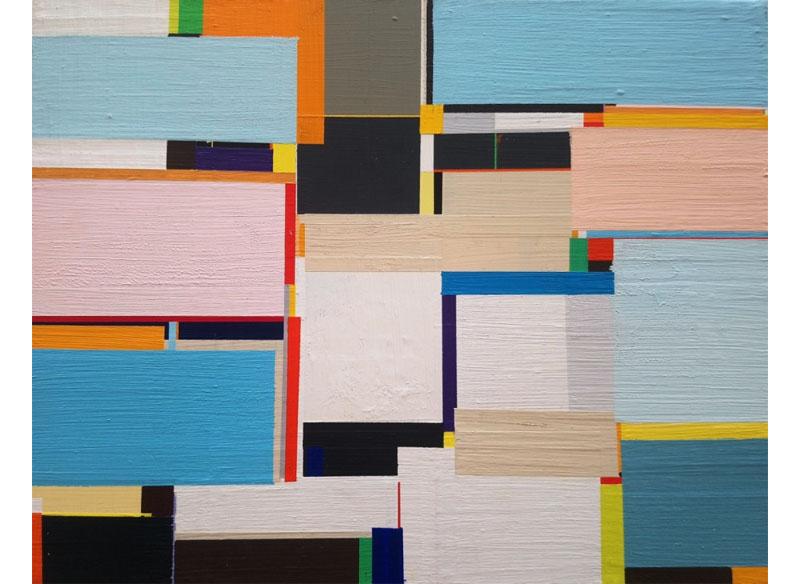 Richard Schur SKIES, STUDY. 2011. Acrílico sobre madera. 28x35,5 cm.